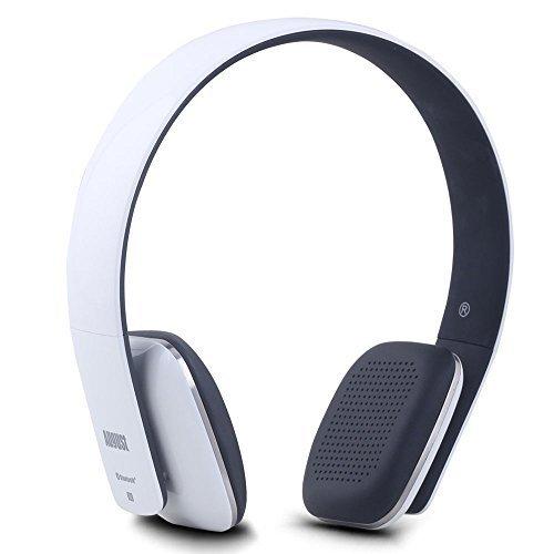 August EP636 - Bluetooth v4.0 NFC Kopfhörer - mit Freisprechfunktion und integriertem Akku (weiß)