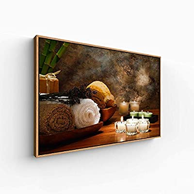 Floating Framed Canvas Wall Art for Living Room, Bedroom Spa Theme Canvas Prints for Home Decoration Ready to Hang - 24x36 inches