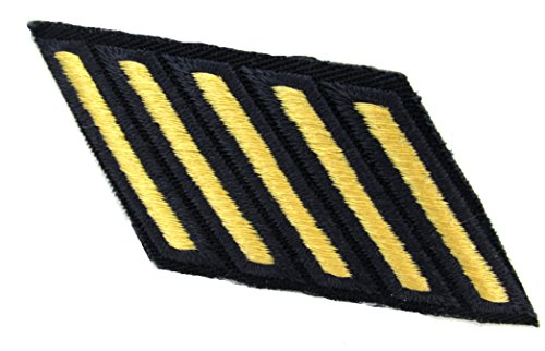 Army Service Stripes - 5 PACK (Gold on BLUE, Male) Army Blue Uniform