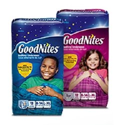 Absorbent Underwear Goodnites Pull on Large / X-large Disposable Moderate Absorbency Case of 44