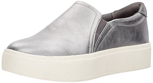 Dr. Scholl's Shoes Women's Kinney Fashion Sneaker, Pewter Metallic, 7 M US