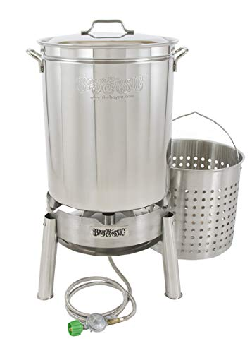 Bayou Classic KDS160 Stainless 62qt Boiler/Steamer