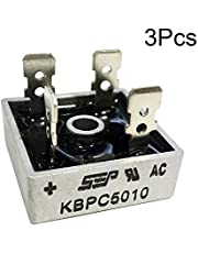 PoiLee KBPC5010 Bridge Rectifier Diode 50A 1000V KBPC Single Phase Full Wave 50 Amp Electronic Silicon Diodes 3Pcs