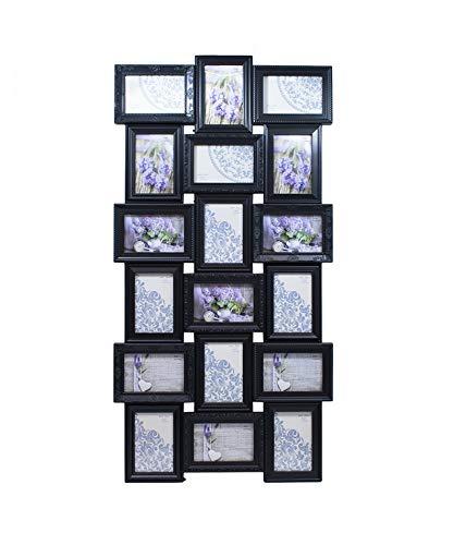 Multi Porta Retrato 18 Fotos Preto 10X15cm