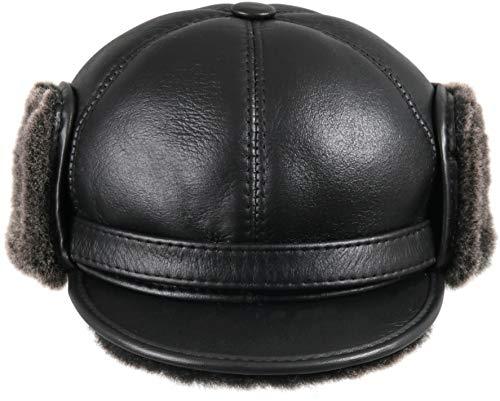 814c423f402 Jual Zavelio Men s Shearling Sheepskin Elmer Fudd Pilot Visor Hat ...