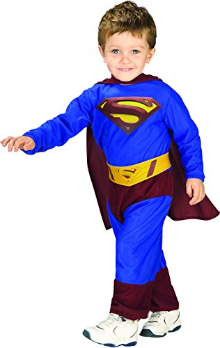 Baby Halloween Costumes On Sale (Superman Returns Jumpsuit And Cape Superman, Superman Print, 1-2 Years Costume)