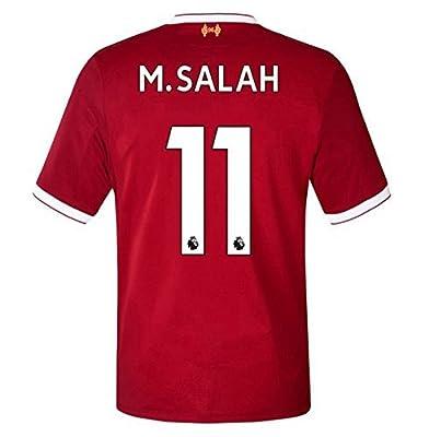 2017/2018 Mens M Salah 11 Liverpool Home Soccer Jersey Men's Color Red Size M