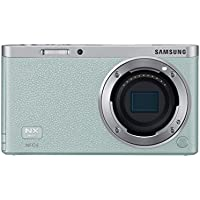 Samsung NX Mini 20.5MP CMOS Smart WiFi & NFC Mirrorless Digital Camera with 9-27mm Lens and 3 Flip Up LCD Touch Screen (Mint Green)