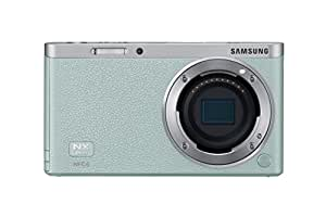 "Samsung NX Mini 20.5MP CMOS Smart WiFi & NFC Mirrorless Digital Camera with 9-27mm Lens and 3"" Flip Up LCD Touch Screen (Mint Green)"