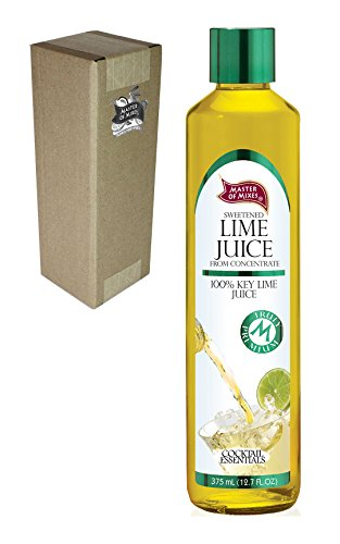 Master of Mixes Cocktail Essentials Sweetened Lime Juice, 375 ML Glass Bottle (12.7 Fl Oz), Individually Boxed