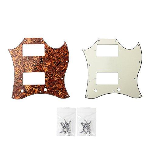 Kmise Z5121 2 Pickguard Full Face Size 3-Ply for Gibson SG Standard Screws