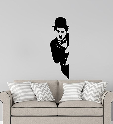 Advanced store Movie Wall Vinyl Decal Charlie Chaplin Film Wall Sticker Home Removable Interior Room Wall Stickers Murals MK7987