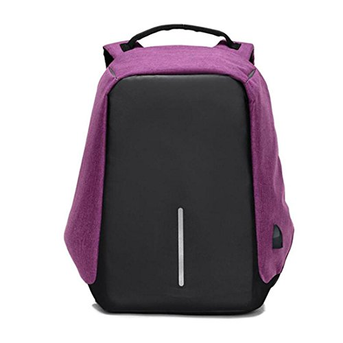 WYXIN Multifunktionale USB-Lade Security-Paket Business Rucksack männlich Computer Tasche Reisen Pack purple