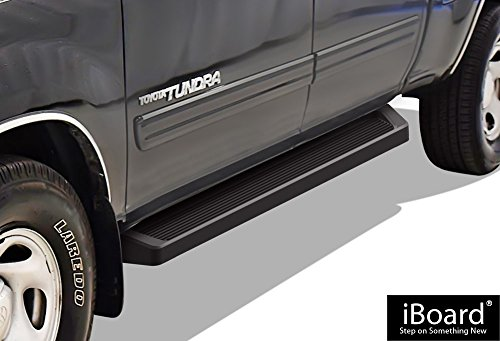 APS iBoard (Black Powder Coated Running Board Style) Running Boards | Nerf Bars | Side Steps | Step Rails for 2004-2006 Toyota Tundra Double Cab Pickup 4-Door & 2001-2007 Toyota Sequoia -