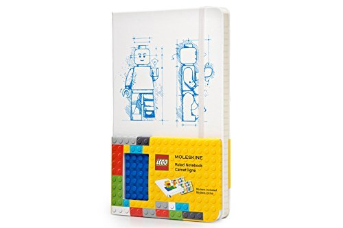 By Moleskine Moleskine LEGO Limited Edition Notebook II, Large, Ruled, White, Hard Cover (5 x 8.25) (Ntb Ltd) [Hardcover] ()