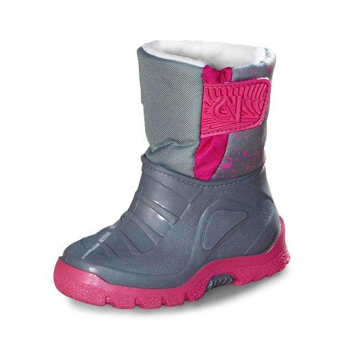 Winterboots, Groesse 26/27, grau/pink