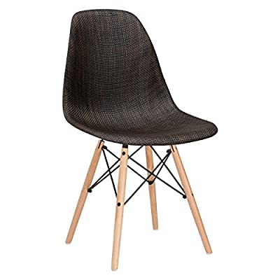 Poly and Bark Woven Vortex Dining Chair with Natural Legs - Duratech infused plastic for superior strength Woven fabric seat Sturdy wood and wire base - kitchen-dining-room-furniture, kitchen-dining-room, kitchen-dining-room-chairs - 41O0zfOVYVL. SS400  -