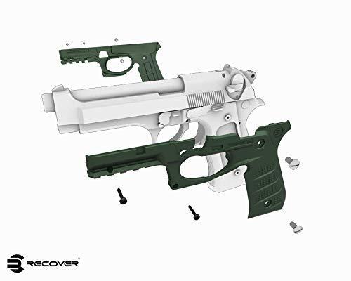 Recuperar Tactical BC2/empu/ñadura y sistema de ra/íles para Beretta 92/M9/Series Pistola