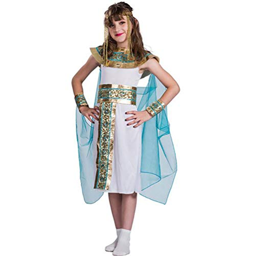 SHANGLY Halloween Costume Girls Egyptian Queen Cosplay Costumes Kids Fancy Dress Outfit for Carnival Party,L
