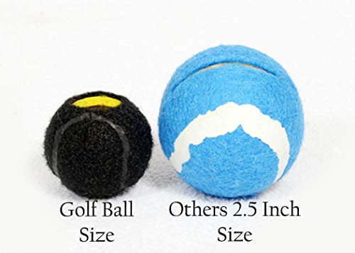 Furniture Footies Small Golf Ball Size Navy Pre-Cut Tennis Ball Chair Leg Floor Protector Pad Glides 100 Count.Smooth, Quiet, Allergen & Latex Free While Pre-Cut for Safety by Furniture Footies (Image #3)