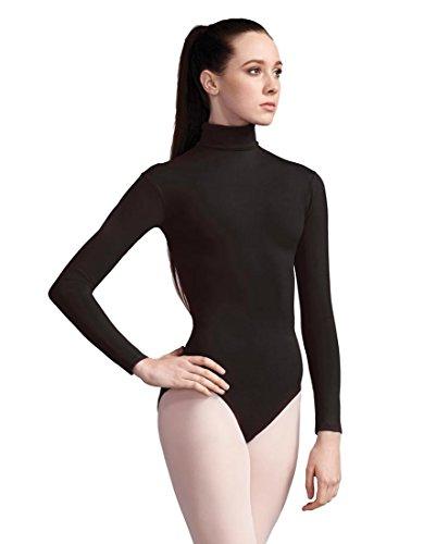 Capezio Women's Turtleneck Long Sleeve Leotard,Black,Small