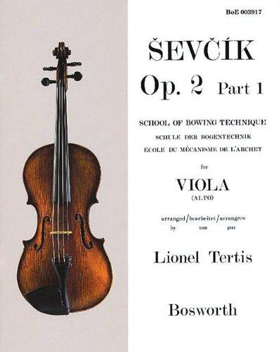 Read Online Sevcik for Viola - Opus 2, Part 1: School of Bowing Technique pdf