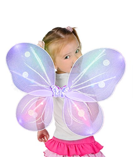 LED Butterfly Wings - Purple (Led Light Costume Baby)