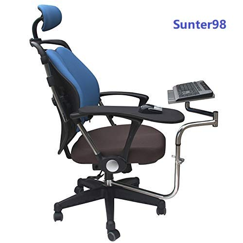 OK010 Multifunctoinal Full Motion Chair Clamping Keyboard Support Laptop Holder Mouse Pad for Compfortable Office and Game