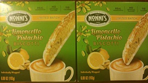 - Limited Edition - Nonnis Limoncello Pistachio Biscotti - 2 Boxes
