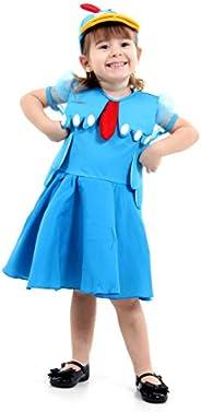 Galinha Pintadinha Vestido Luxo Infantil Sulamericana Fantasias Azul 4 Anos