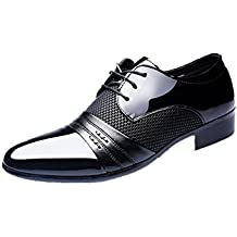 SDHEIJKY Men Business Flat Shoes Breathable Low Top Formal Office Shoes