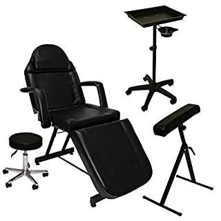 InkBed Tattoo Bed Package: Tattoo Bed, Artist Chair, Mobile Work Tray & Arm Bar