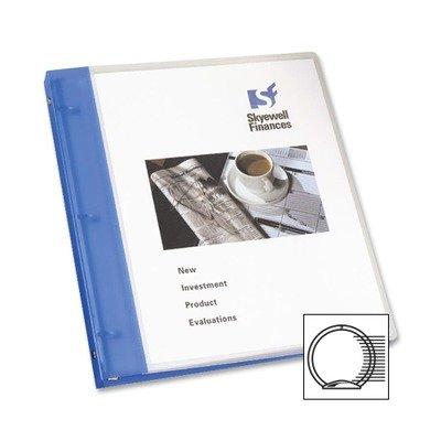 "Avery 17675 Flexible Presentation Round Ring Binder, 1/2"" Cap, 11 x 8-1/2, Blue"