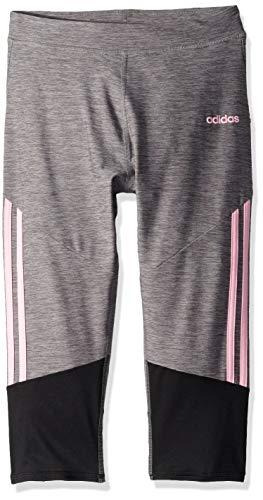 - adidas Girls' Big Capri Legging, Stripe Grey/Black L (12/14)