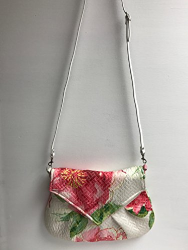 The Rose Garden: Watercolor Floral Pattern Quilted Look Purse with Adjustable ()