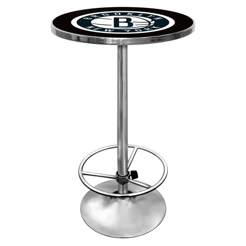 NBA Brooklyn Nets Chrome Pub Table