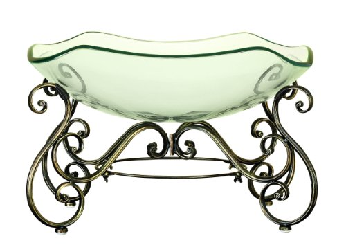 Deco 79 81684 Glass Bowl Metal Stand with Great Decor Appeal by Deco 79