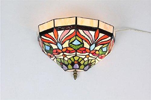 FixtureDisplays Tiffany Style Wall Sconces Fixture Light Hall Bedroom Lamp 16698 by FixtureDisplays