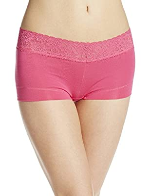 Maidenform Women's Dream Cotton with Lace Boy Short
