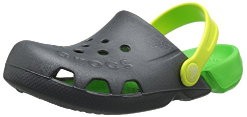 crocs Electro Clog (Toddler/Little Kid/Big Kid),Graphite/Neon Green,9 M US Toddler by Crocs