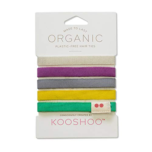 Kooshoo LILA Colorful Hair Ties. Best Selling No Crease Hair Ties For an Ouchless Experience. Only Organic Cotton Ponytail Holders Made In USA.