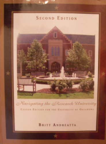 Navigating the Reasearch University Custom Edition for the University of Oklahoma
