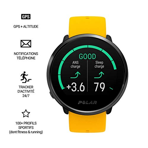 POLAR IGNITE - Advanced Waterproof Fitness Watch (Includes Polar Precision Heart Rate, Integrated GPS and Sleep Plus Tracking)