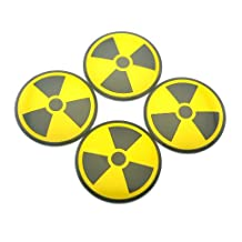 4PC Nuclear Radioactive Wheel Centre Caps Sticker for Fiesta Corsa Astra Focus A1 A3 Gold Tiguan