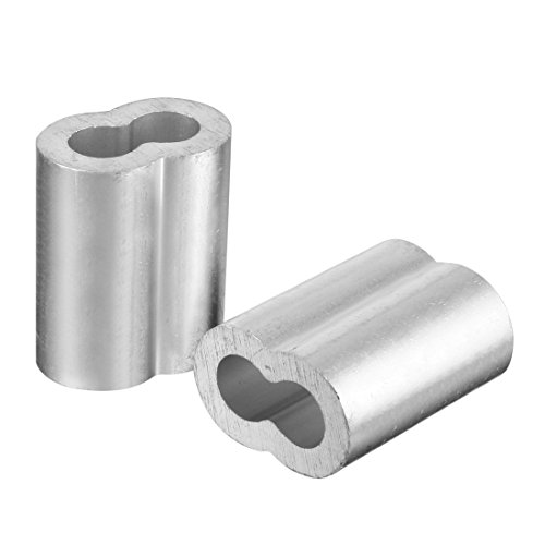 TOOGOO 20pcs 3/8 inch (10mm) Diameter Wire Rope Aluminum Alloy Sleeves Clip Fittings Cable Crimps by Toogoo (Image #2)