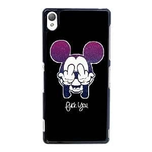 Mickey Mouse U8Z4Nu Funda Sony Xperia Z3 caja del teléfono celular Funda Negro Diseño G4W6BU funda caja durable del teléfono
