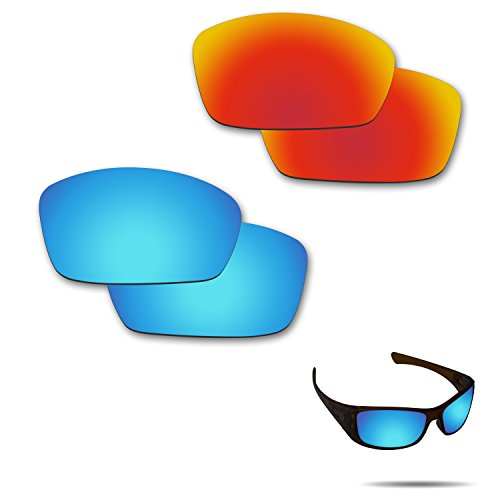 Fiskr Anti-saltwater Polarized Replacement Lenses for Oakley Hijinx Sunglasses 2 Pairs - Polarizes Define