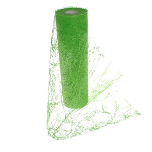 Sizoweb Table Runner Apple Green: Beautiful, Reusable, Easy to use and Customizable in Length (Cut & go) - Perfect for Decorating Seasonal, Wedding, Dinner and Party Tables (Covers 10 8ft Tables) ()