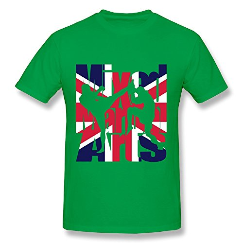 Funny UK Mixed Martial Arts Mens Tshirts Tshirts Making For Gentleman ForestGreen