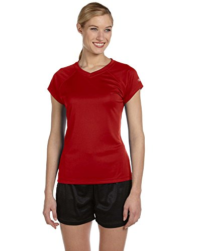 Champion Damen V-Neck Tee Essential Double Dry Gr. XX-Large, Scharlachrot